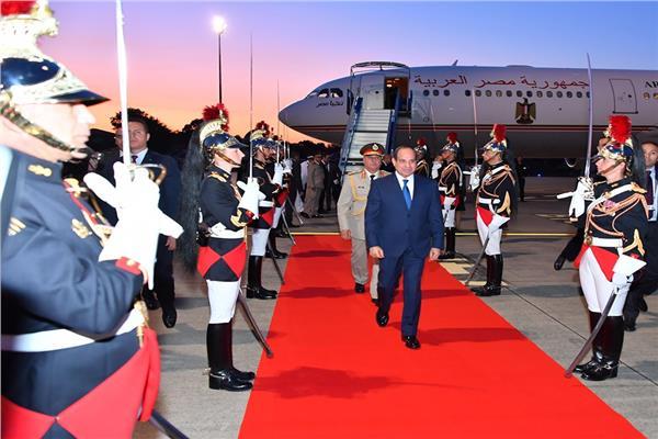 بالصور| الرئيس السيسي يصل فرنسا للمشاركة في قمة السبع