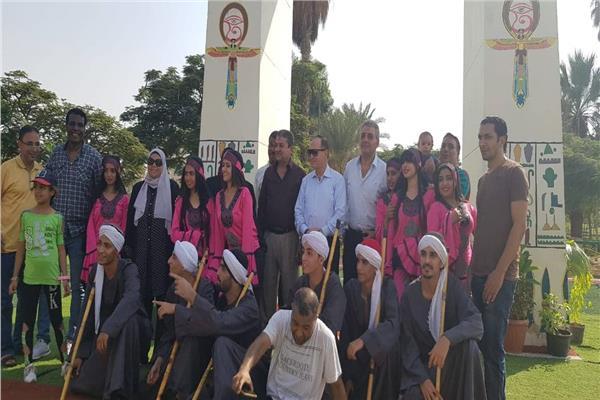 احتفالات بالحديقة الدولية بمناسبة نصر أكتوبر