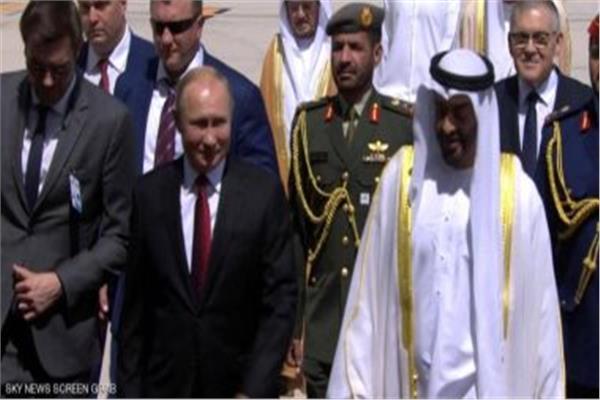 فيديو مراسم استقبال الرئيس الروسي في دولة الإمارات