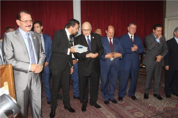 صور  وزراء ومحافظين في احتفالية حزب «الغد» لتكريم أسر شهداء أكتوبر