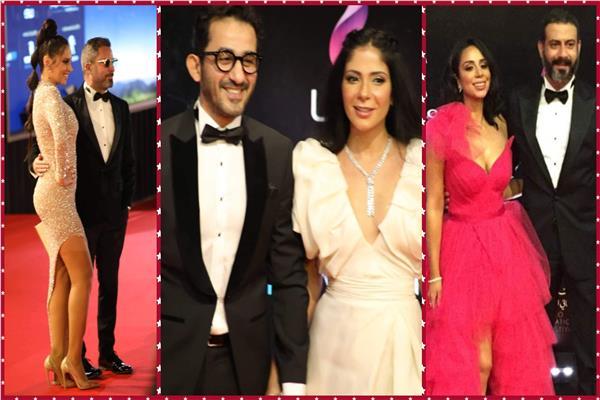 صور «الكابلز» يزينون السجادة الحمراء في افتتاح «القاهرة السينمائي»