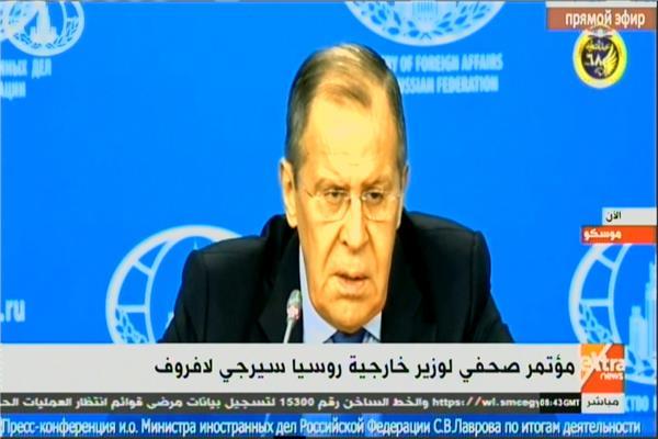 بث مباشر مؤتمر صحفي لوزير الخارجية الروسي بشأن ليبيا بموسكو