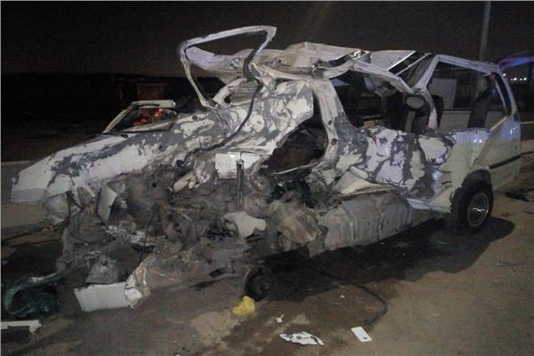 صور عاجل مصرع 10 أشخاص في حادث تصادم بطريق «المعادي المطار»