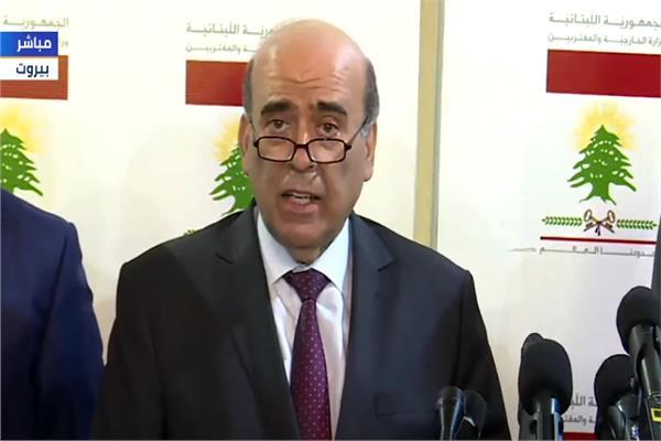 فيديو وزير الخارجية اللبناني الجديد سأعمل على النهوض بالدولة وتجاوز المحنة