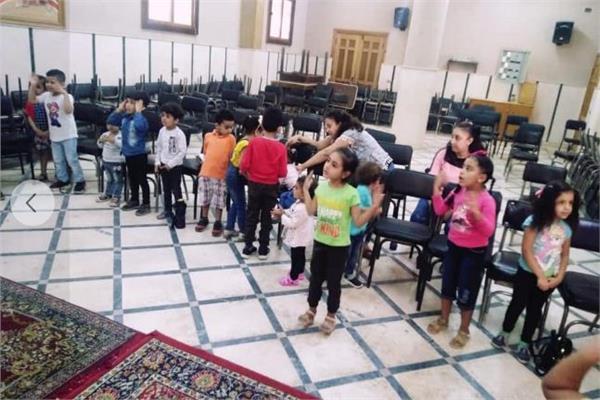 استمرار فعاليات مدارس الأحد بكاتدرائية السيدة العذراء مريم بقويسنا