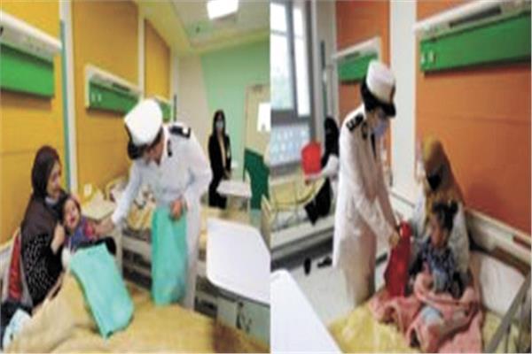 «الداخلية» توزع ملابس العيد على الأطفال المرضى بالمستشفيات