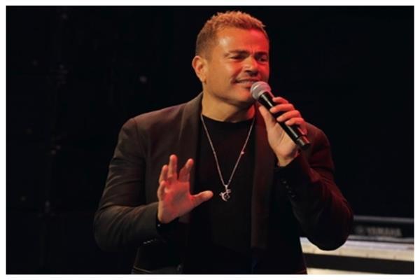 عمرو دياب يعلن عن عمل فنى جديد من داخل الاستديو