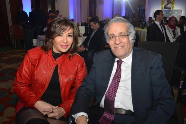 محمدرشاد وعروستة مى  حلمى فى اول ظهور لهما بعد الزفاف