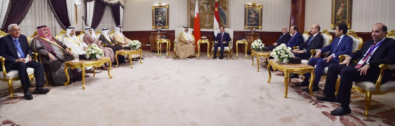 قمة مصرية بحرينية بالقاهرة