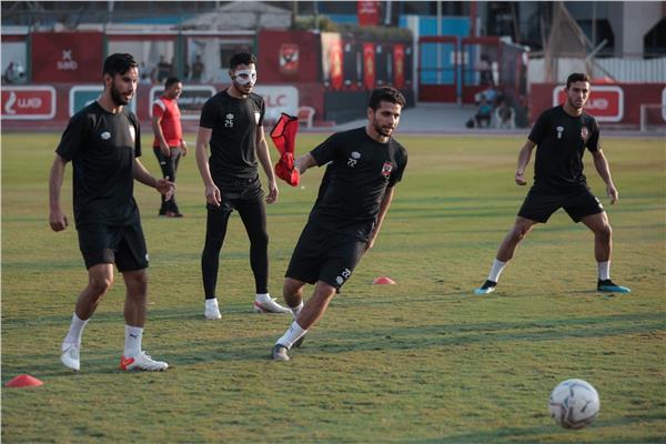 مران الأهلي- «تراي ماتش» بين اللاعبين في ختام التدريبات