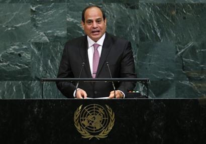 شاهد| خطابات السيسي أمام الأمم المتحدة.. وتعرف على «جملته الأساسية»