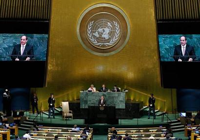 وسائل الإعلام العربية والدولية تبرز كلمة السيسي بالأمم المتحدة